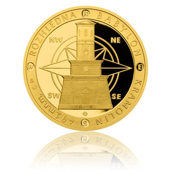 Zlatá uncová medaile Rozhledna Babylon proof