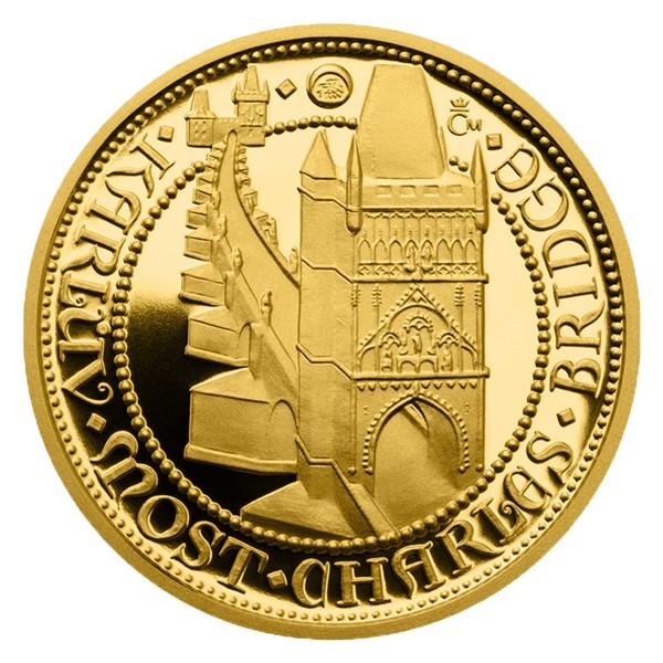 Zlatý dukát Doba Karla IV. - Karlův most proof