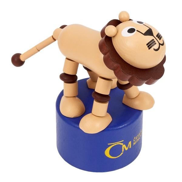 Český lev - dřevěná hračka