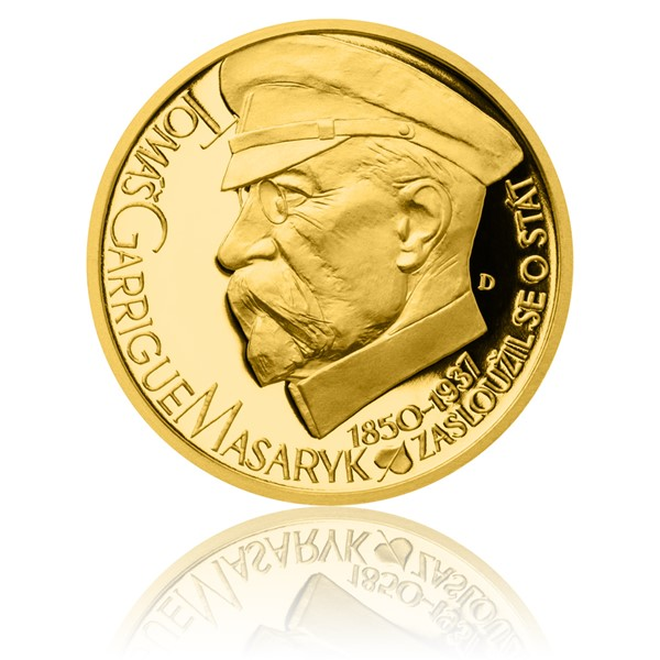 Zlatý dukát Českoslovenští prezidenti - T. G. Masaryk proof