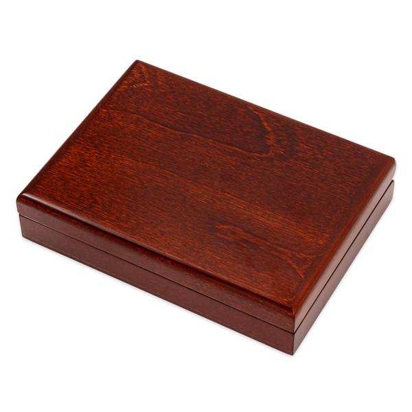 Dřevěná etue tmavá na průměr 73 mm (100 dukát)