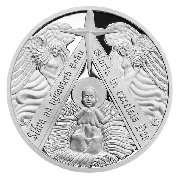 Stříbrná medaile Ježíšek v jesličkách proof