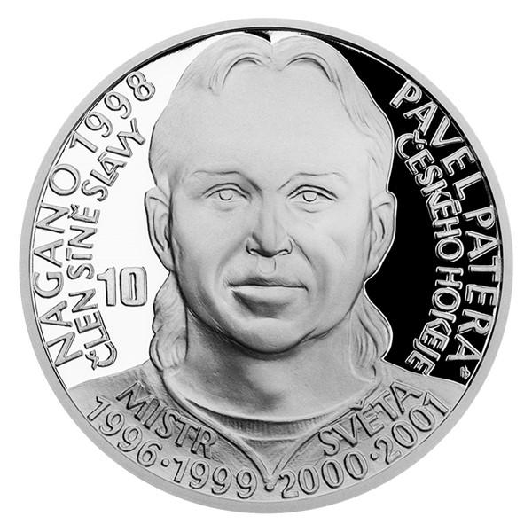 Stříbrná mince Legendy čs. hokeje - Pavel Patera proof