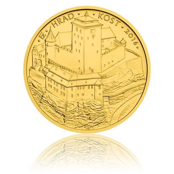 Zlatá mince 5000 Kč 2016 Kost stand
