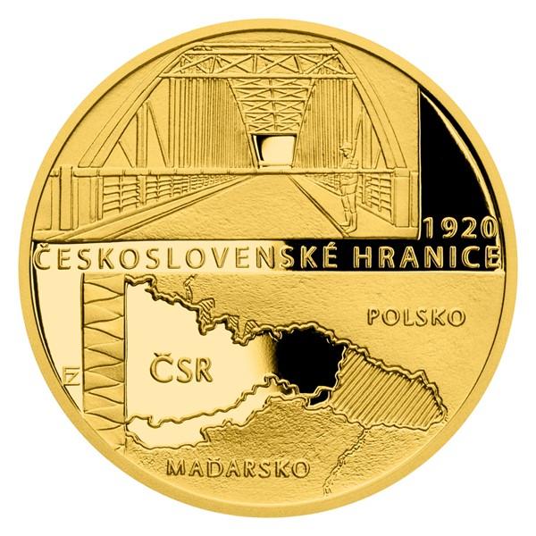 Zlatá mince Rok 1920 - Československé hranice proof