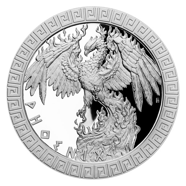 Stříbrná mince Bájní tvorové - Fénix proof