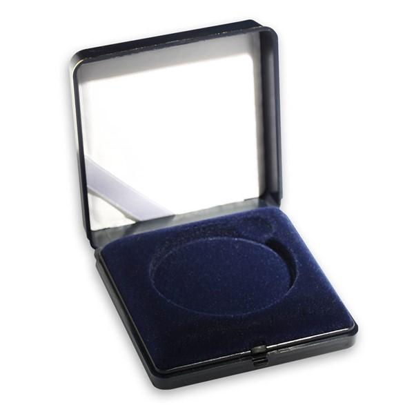 Plastová etue modrá 8x8 na průměr 44,38 mm