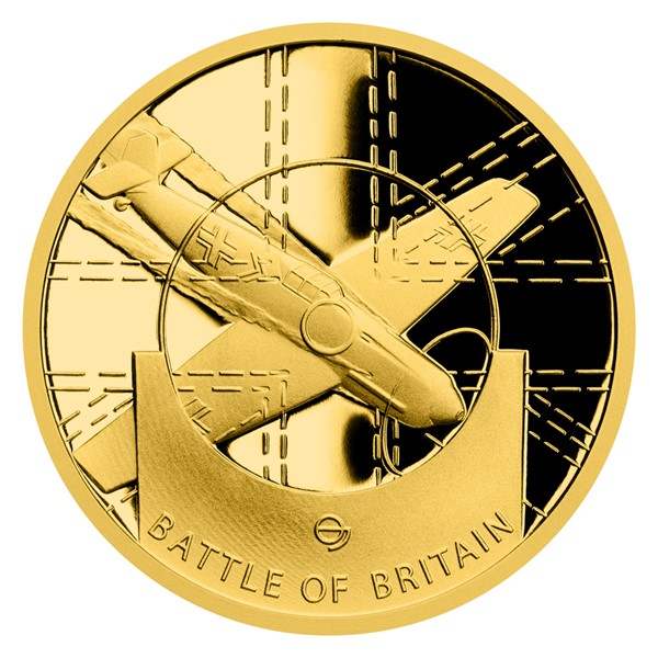 Zlatá mince Válečný rok 1940 - Bitva o Británii proof