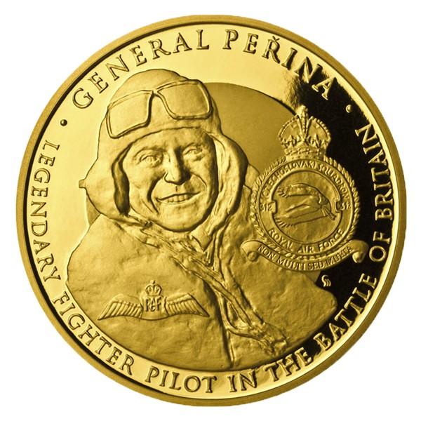 Zlatá investiční mince Generál Peřina proof