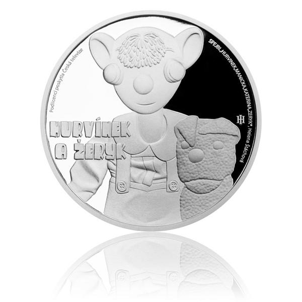 Stříbrná mince Hurvínek a Žeryk proof