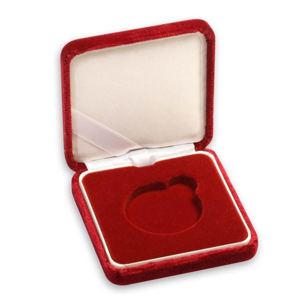 Sametová etue červená 6x6 na průměr 33,28 mm