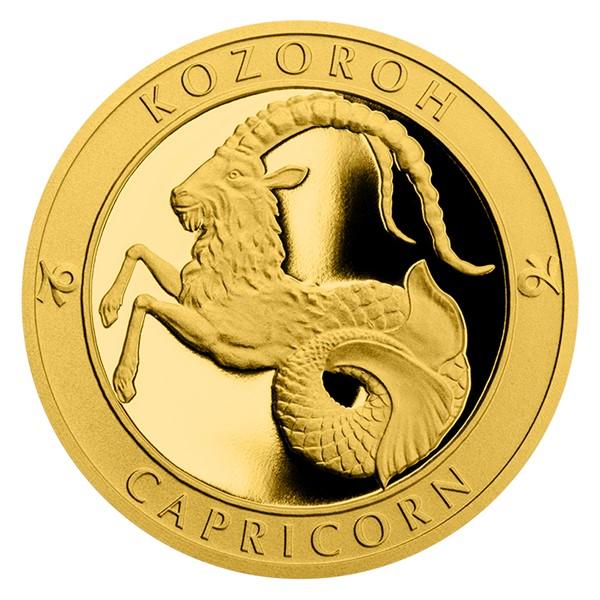 Zlatý dukát Znamení zvěrokruhu s věnováním - Kozoroh proof