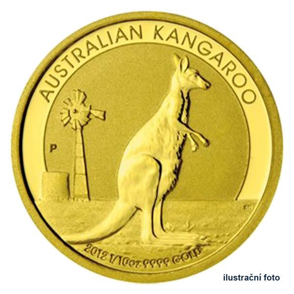 Zlatá investiční mince 1/10 Oz 15 AUD Austrálie - klokan proof