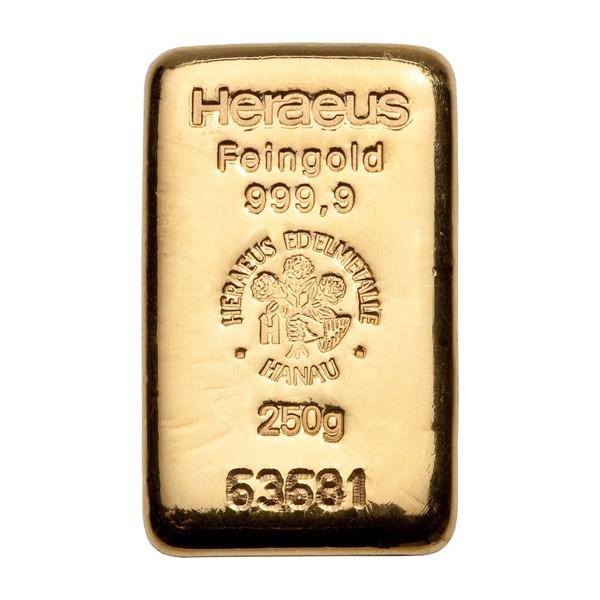 Investiční zlatá cihla 250 g - Heraeus