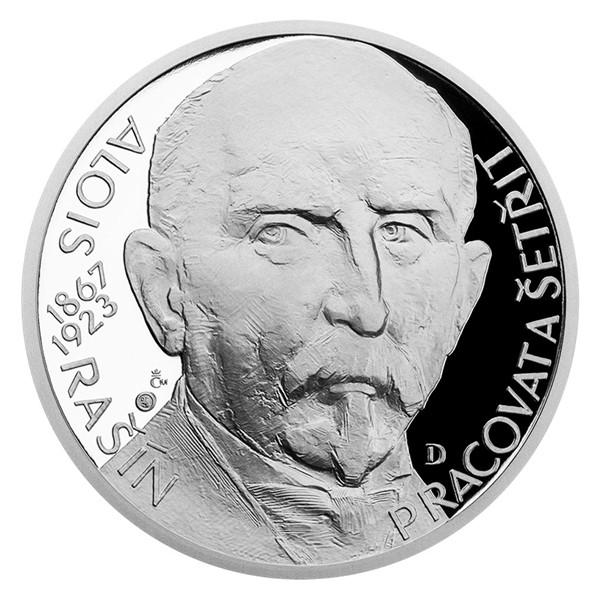 Stříbrná medaile Národní hrdinové - Alois Rašín proof