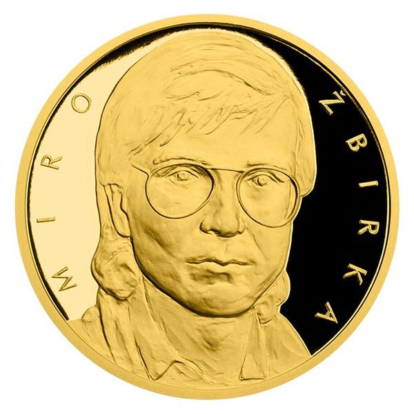 Zlatá půluncová medaile Miro Žbirka proof číslováno