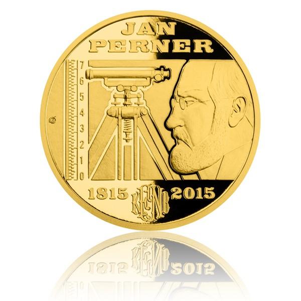 Zlatá půluncová medaile Jan Perner proof