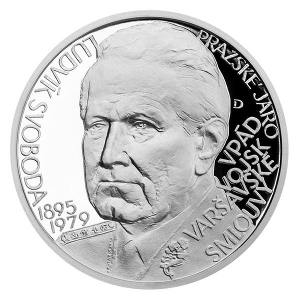Stříbrná medaile Českoslovenští prezidenti - Ludvík Svoboda proof