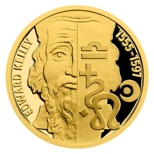 Zlatá mince Alchymisté - Edward Kelley proof