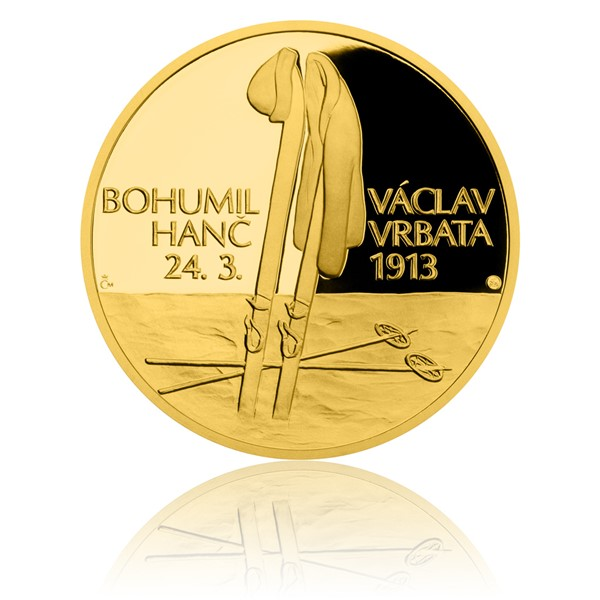 Zlatá čtvrtuncová medaile Příběhy naší historie - Hanč a Vrbata proof