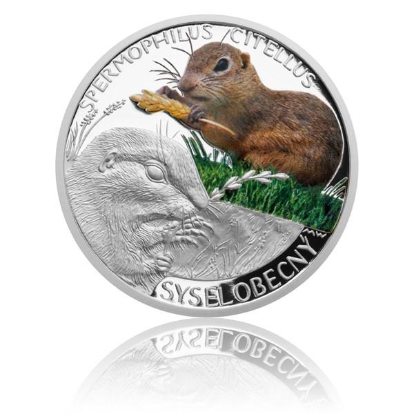 Stříbrná mince Ohrožená příroda - Sysel obecný proof