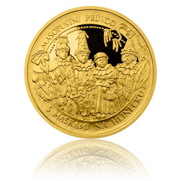 Zlatá mince České tradice UNESCO - Masopustní průvody proof