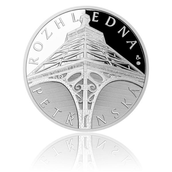 Stříbrná medaile Petřínská rozhledna proof