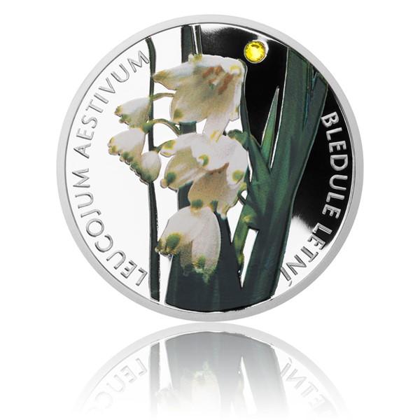 Stříbrná mince Ohrožená příroda - Bledule letní proof