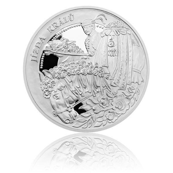 Stříbrná mince České tradice UNESCO - Jízda králů proof