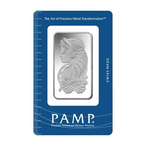 Investiční stříbrná cihla 50 g - Pamp Fortuna