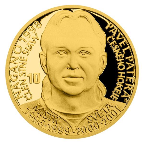 Zlatá čtvrtuncová mince Legendy čs. hokeje - Pavel Patera proof