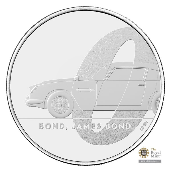 Pamětní mince James Bond 1 - Bond, James Bond UK 2020 stand (5 GBP)