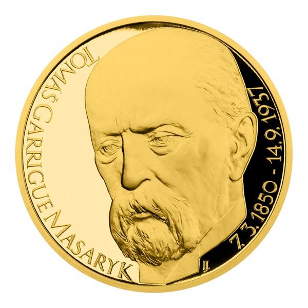 Zlatá uncová medaile Tomáš Garrigue Masaryk proof