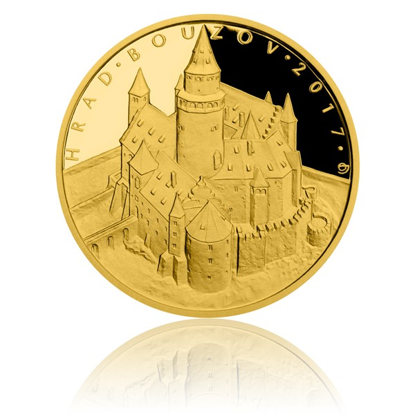 Zlatá mince 5000 Kč 2017 Bouzov proof