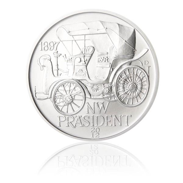 Stříbrná medaile NW Präsident stand