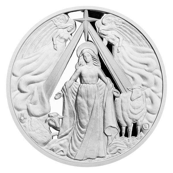 Stříbrná medaile Panna Maria proof