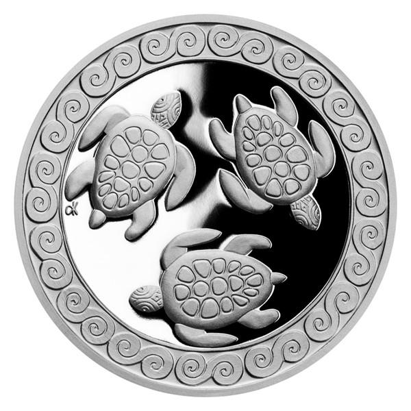 Stříbrná medaile Želva - symbol dlouhověkosti proof