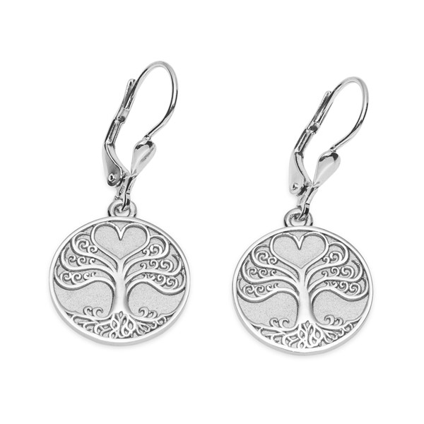 Stříbrné náušnice - Strom života