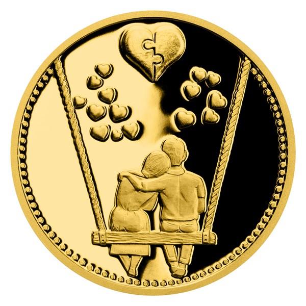 Zlatá medaile Navždy spolu proof