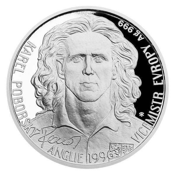 Stříbrná mince Karel Poborský proof