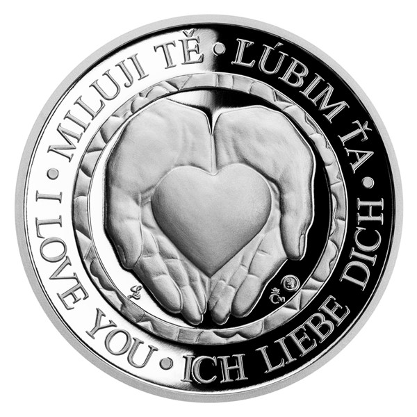 Stříbrná medaile Z lásky proof