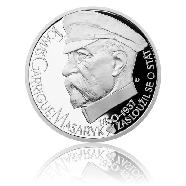 Stříbrná medaile Českoslovenští prezidenti - T. G. Masaryk proof