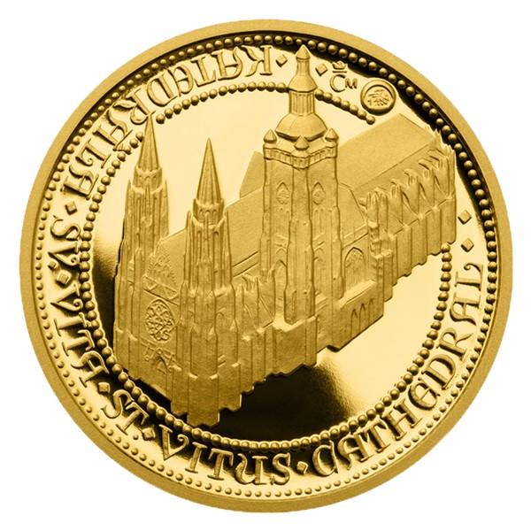 Zlatý dukát Doba Karla IV. - Katedrála sv. Víta proof