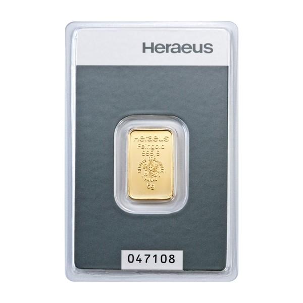 Investiční zlatá cihla 5 g - Heraeus