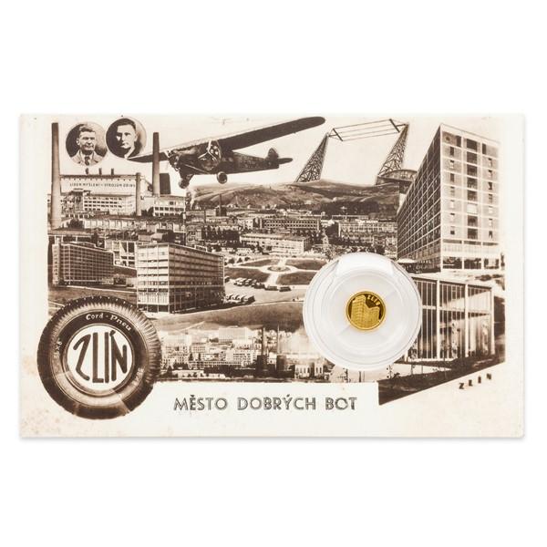 Zlatá mince Zlín - Baťův mrakodrap proof