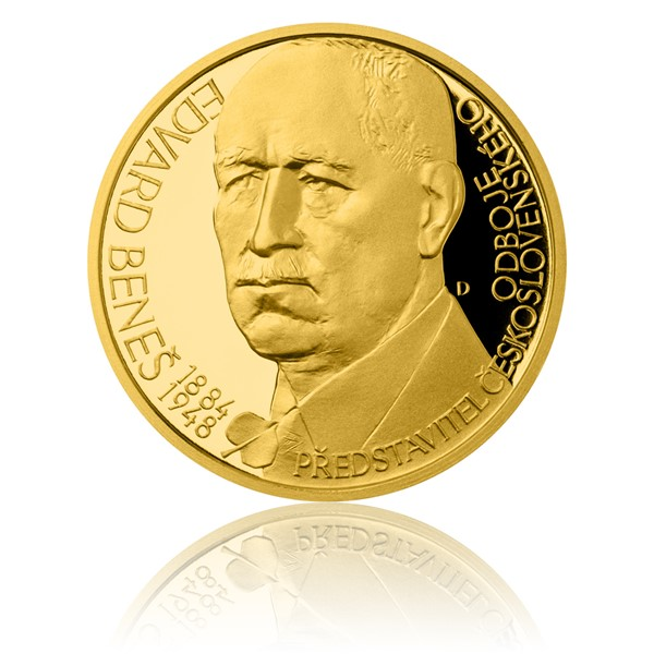 Zlatý dukát Českoslovenští prezidenti - Edvard Beneš proof