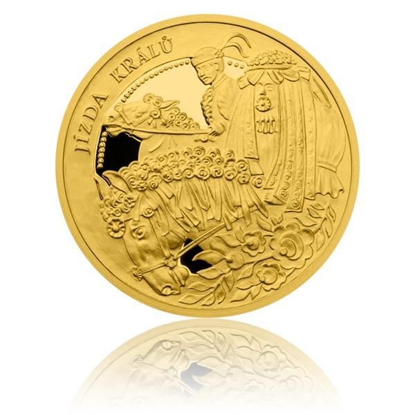 Zlatá mince České tradice UNESCO - Jízda králů proof