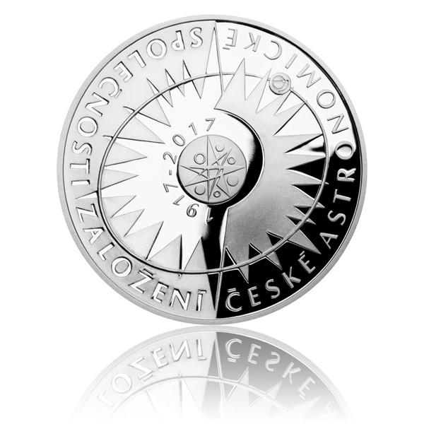 Stříbrná mince 200 Kč 2017 Založení České astronomické společnosti proof
