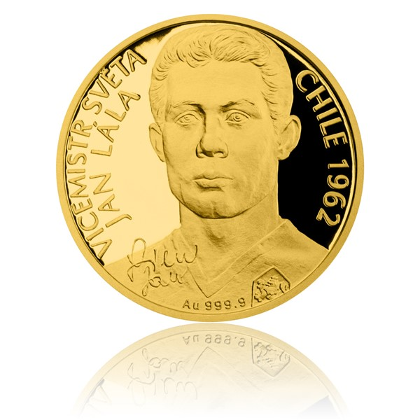 Zlatá čtvrtuncová mince Jan Lála proof