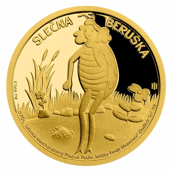 Zlatá mince Slečna Beruška proof
